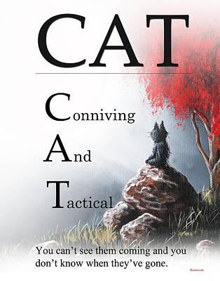 Cat Buseyism - Original Buseyism Artwork Poster by Buseyisms Inc Gary Busey