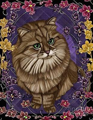 cat Poster by Karen Sheltrown