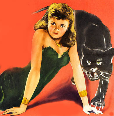 Cat People Detail Poster