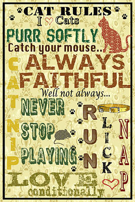 Cat Rules Poster