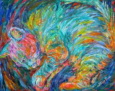 Cat Swirl Poster