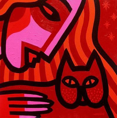 Cat Woman Poster by John  Nolan