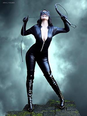 Feline Fatale On The Edge Poster