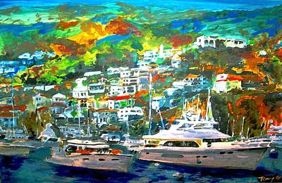Catalina Island 3 Poster by Rom Galicia