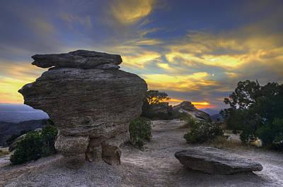 Catalina Mountains Sunset Near Tucson Arizona Poster by Dave Dilli