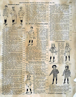 Catalogue Page, 1895 Poster by Granger