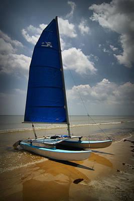 Catamaran Poster by Linda Unger