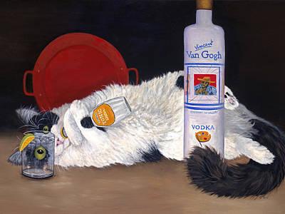 Poster featuring the painting Catatonic by Karen Zuk Rosenblatt