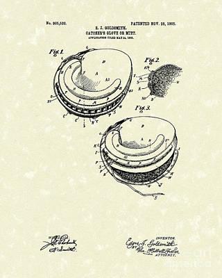 Catcher's Glove 1905 Patent Art Poster by Prior Art Design