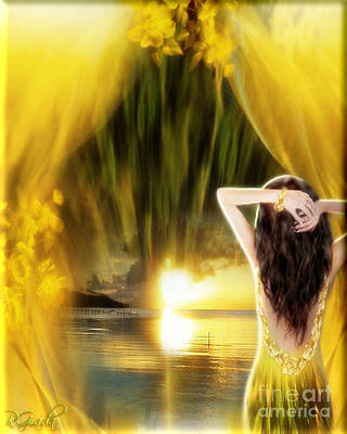 Poster featuring the digital art Catching The Sunset - Fantasy Art By Giada Rossi by Giada Rossi