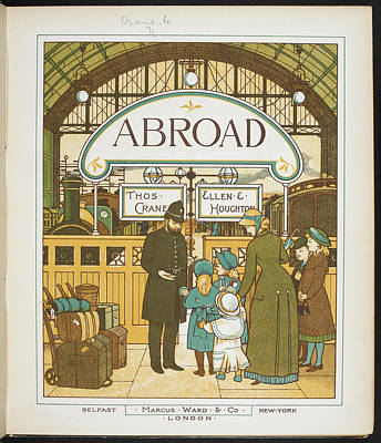 Catching The Train At Charing Cross Poster by British Library