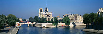 Cathedral Along A River, Notre Dame Poster