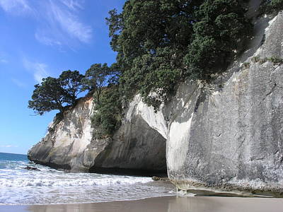 Poster featuring the photograph Cathedral Cove by Christian Zesewitz