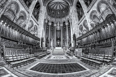 Cathedral Of Saint John The Divine II Poster by Clarence Holmes