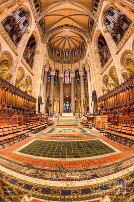 Cathedral Of Saint John The Divine IIi Poster by Clarence Holmes