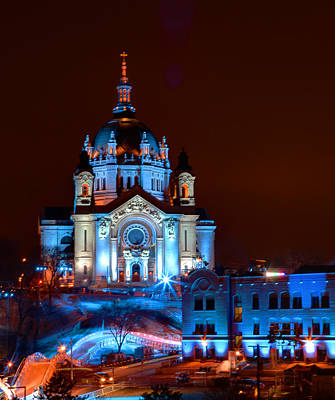 Cathedral Of St Paul All Dressed Up For Red Bull Crashed Ice Poster