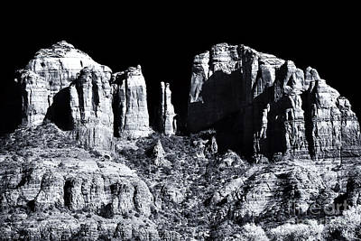 Cathedral Rock Shadows Poster by John Rizzuto