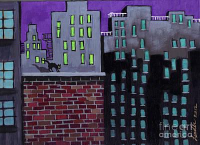 Cat's Night Poster
