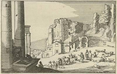 Cattle Between Roman Ruins, Willem Van Nieulandt II Poster