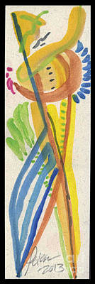 Caught Up With The Gardener. Entwined Figures Series No. 22. 2013 Poster by Cathy Peterson