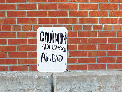 Poster featuring the photograph Caution Adulthood Ahead by Brooke T Ryan