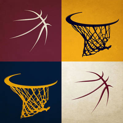 Cavaliers Ball And Hoop Poster by Joe Hamilton