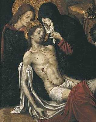 Cavaro, Pietro -1538. Descent. Beg Poster by Everett