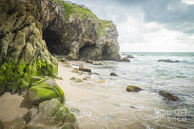 Cave At A Beach Sayulita Mexico Poster by Andre Babiak