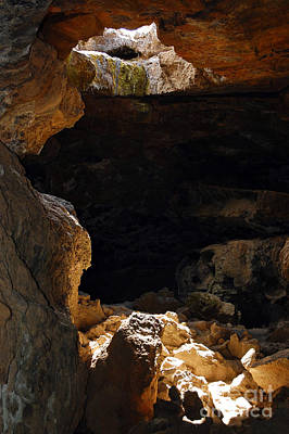 Poster featuring the photograph Cave Light by Debra Thompson
