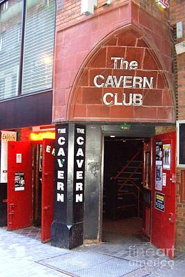 Cavern Club Entrance Mathew Street Liverpool Uk Poster by Steve Kearns