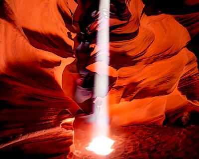 Cavern Lights Artistic Style - Antelope Canyon - Arizona Poster
