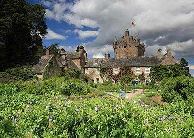 Cawdor Castle And Garden Poster by Maria Gaellman
