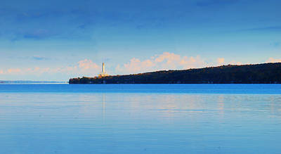 Cayuga Lake Ithaca New York Panoramic Photography Poster by Paul Ge