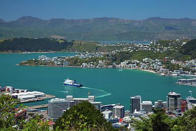 Cbd, Bluebridge Ferry In Wellington Poster by David Wall