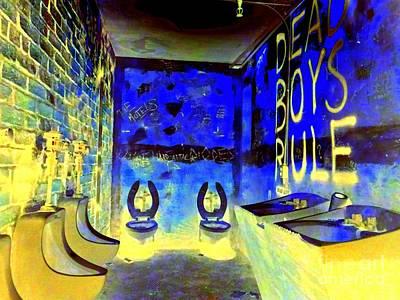 Cbgb's Notorious Mens Room Poster