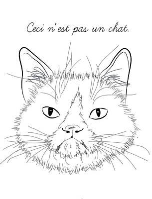 Ceci Nest Pas Un Chat Poster by Beka Buchashvili