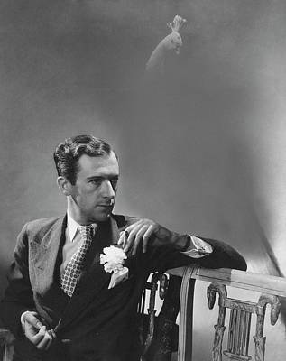 Cecil Beaton Smoking A Cigarette Poster by Lusha Nelson