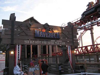 Cedar Point - Maverick - 12126 Poster by DC Photographer