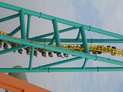 Cedar Point - Wicked Twister - 12124 Poster by DC Photographer