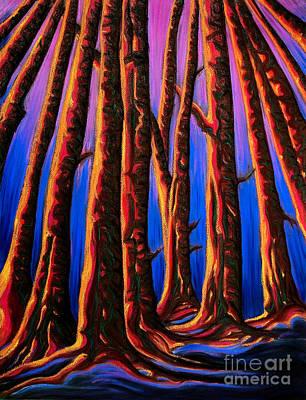 Cedars In Stanley Park Poster by Jo-Anne Elniski