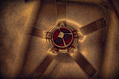 Ceiling Fan Reflected In Ipad Poster