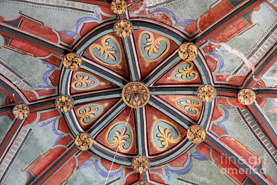 Ceiling Medallion Tepoztlan Poster by Linda Queally