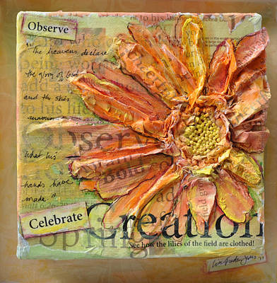 Poster featuring the painting Celebrate Creation by Lisa Fiedler Jaworski