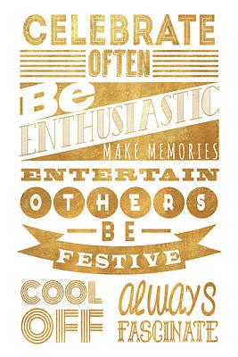 Celebrate Often Poster by South Social Studio