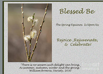 Celebrate The Spring Equinox Card Poster