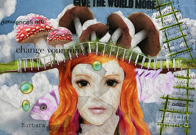 Poster featuring the digital art Celebrate Who You Are by Barbara Orenya