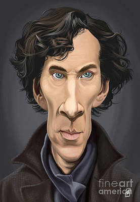 Celebrity Sunday - Benedict Cumberbatch Poster by Rob Snow