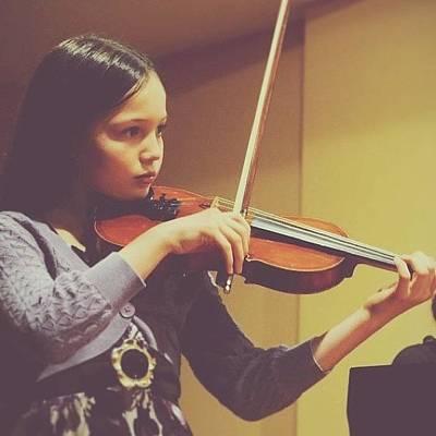 Celeste Playing #violin 😊#music Poster