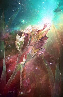Celestial Iris Poster by Carol Cavalaris