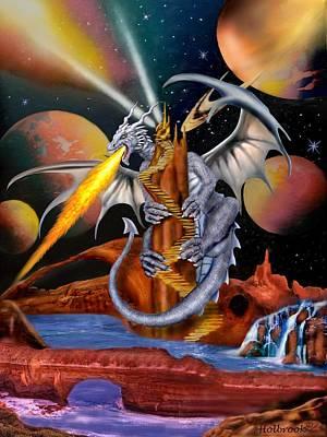 Celestian Dragon Poster by Glenn Holbrook